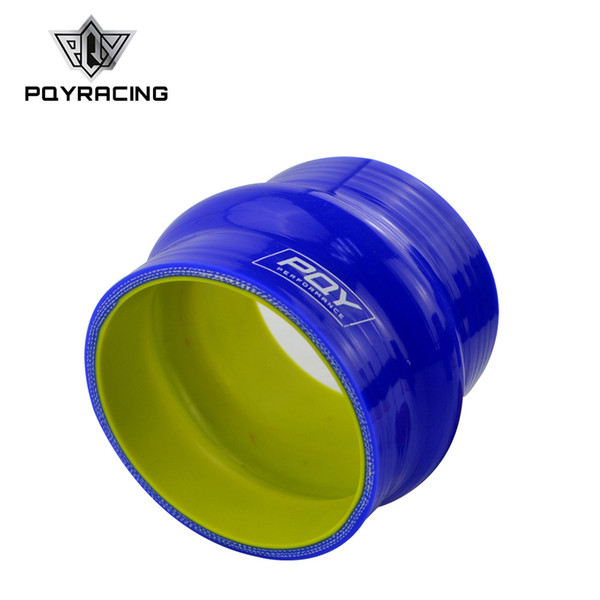 "PQY - Blue&yellow 3.0"" 76mm Hump Straight Silicone Hose Intercooler Coupler Tube Pipe PQY-HSH0030-QY"