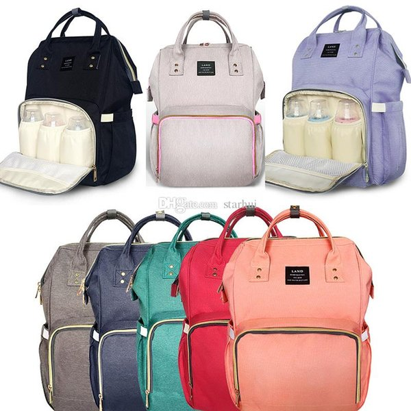 New Diaper Bags Mommy Backpack Nappies Backpack Fashion Mother Maternity Backpacks Outdoor Nursing Travel Storage Bags 13 Color WX-B15