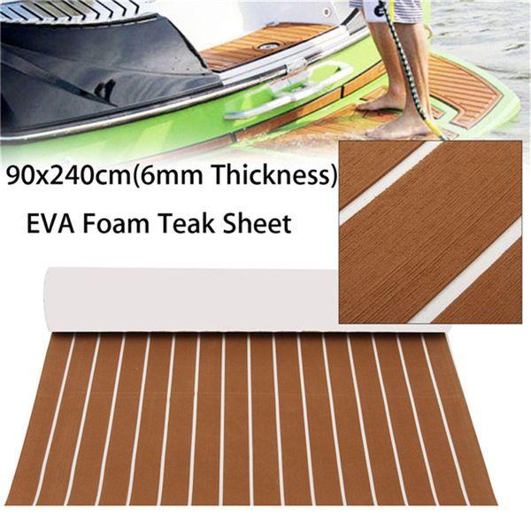 Marinha mat barco piso 47''x94 '' 6 MM marrom Escuro Yacht EVA Barco Tapete Teca Decking Tapete Pad Folha