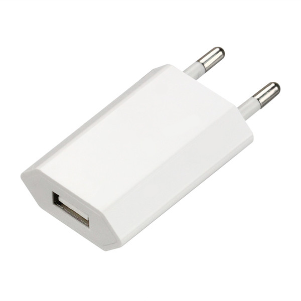 Good quality 4th fourth generation high foot flat White full 1A OEM EU US AC Plug USB Power Home Wall Charger Adapter 300pcs/lot