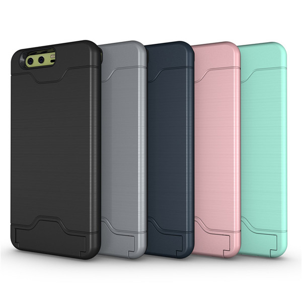 CDD Hard Phone Case for Hua Wei Mate9 P10 Plus Cell Phone Combo Case TPU + PC Back Protective Cover with Card Slot