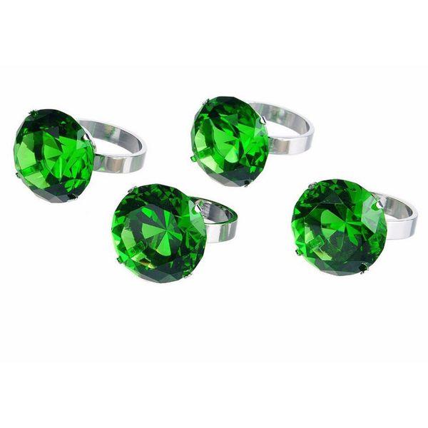 New green 40mm napkin rings crystal glass crystal diamond napkin holder glass wedding desk decor