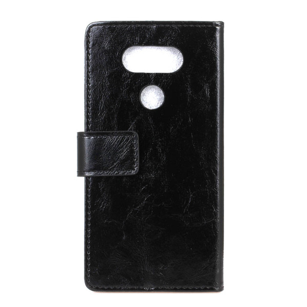 New Crazy Horse Grain Wallet PU Leather Phone Case For LG Q6 Q8 K8 2018 V30 V40 Thin Q card holder slot stand
