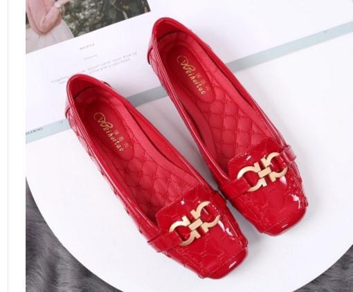 Geben Sie heiße 2018 neue Art flache Unterseite koreanische einzelne Schuhe vier Jahreszeiten Schuhe Frau @ 02 frei