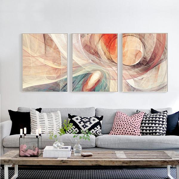 Großhandel 2018 Abstrakte Leinwand Wandmalereien Moderne Bunte 40 * 60 Cm  Gerahmte Leinwand Wandkunst Bild Küche Wohnzimmer Dekoration Malerei Von ...