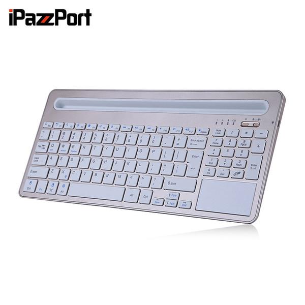 iPazzPort 85BT Wireless Keyboard BT3.0 Tablet Halter Ultra-slim Design 96 Tasten für iOS Android Windows