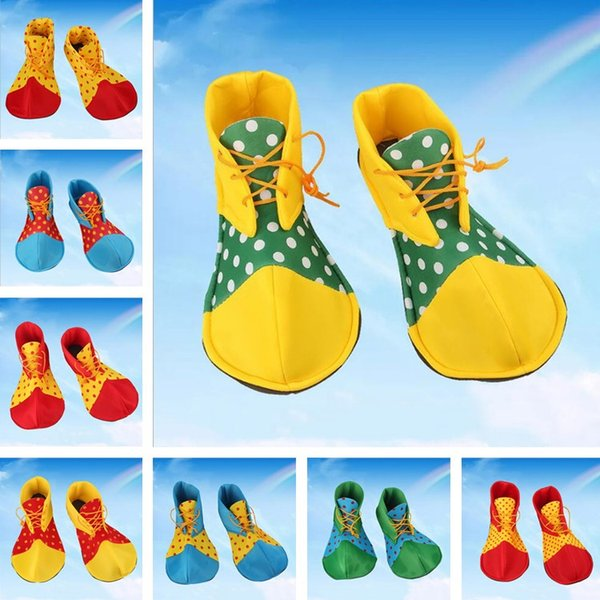 New Style Magician Masquerade Clothes Accessories Stage Performance Props Clown Dress Decoration Adult Clown Shoes T7I611