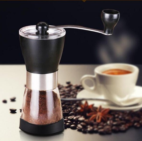 Coffee Grinding Machine Manual Coffee Maker Adjustable Ceramics Core+Glass Bottle Mil Coffee Grinder Machine Grain Milling