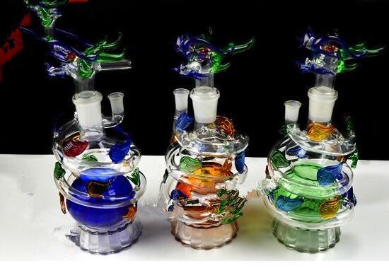 Panlong narguilé Gros bongs en verre Brûleur à mazout Tuyaux d'eau en verre Rues à l'huile Fumer gratuitement