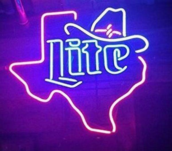 "Custom New Cowboys Hat Texas Real Glass Neon Sign light Beer Bar Sign Send need photo 19x15"""
