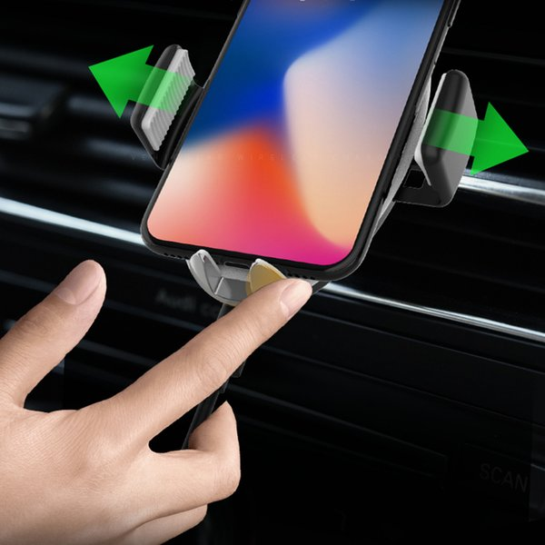 Car Phone Holder non-wireless Universal Air Vent Mount Car Holders Automatic Induction Intelligent Off Stand Mobile Supports
