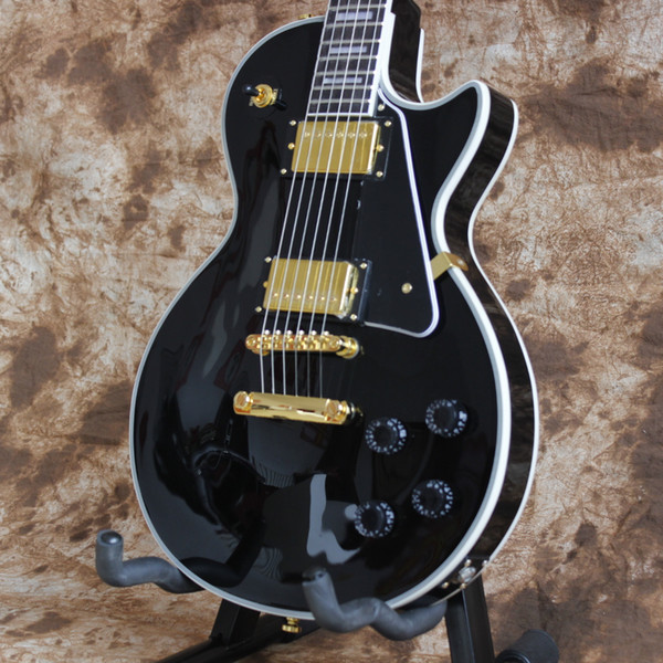Free shipping/China guitars Custom Shop/Black/6 string Electric Guitar/Mahogany body/Rosewood Fingerboard/Fast delivery/Accept OEM business