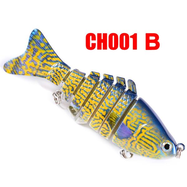 8pcs/set 10cm 15.6g Fishing Wobblers 7 Segments Swimbait Crankbait Fishing Lure Bait with Artificial Hooks