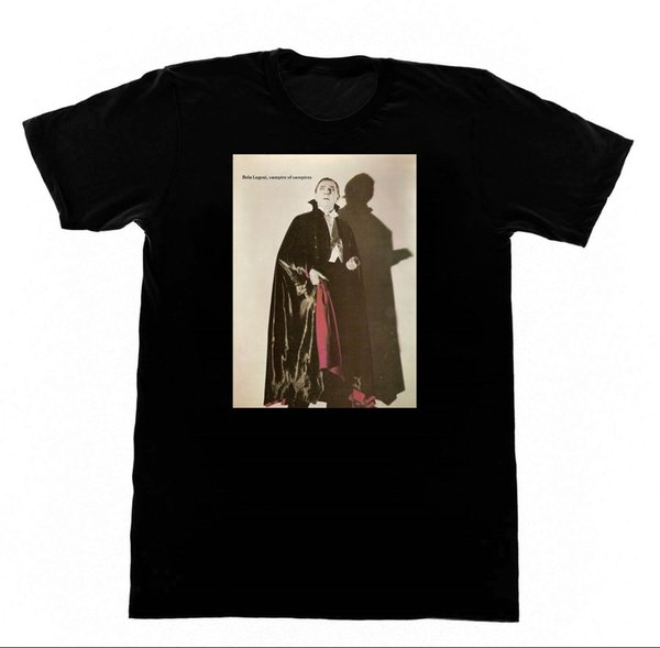 Bela Lugosi-Vamipre De Vampiros T-shirt Drucula Culto Horror Do Vintage Dos Homens Mangas Curtas T Camisa Top Tee Texto