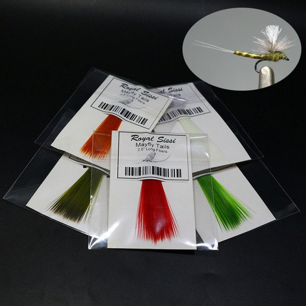 Fishing fly pattern mayfly tails fly tying materials 2.5'' long fibers watershed treated nylon slim &robust synthetic microfibers for artifi