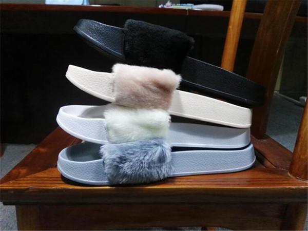 cbf3f39f2 (With Box and Dust Bags) Brand New Rihanna Fenty Leadcat Fur Slides - Pink