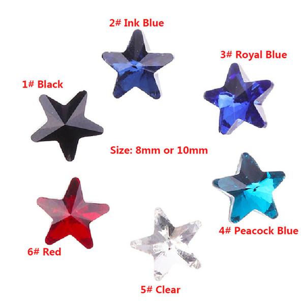 50pcs AB Color Nail Rhinestone strass cristalli fai da te Star Shape Manicure 3D Nail Art Decoration for UV Gel Polish