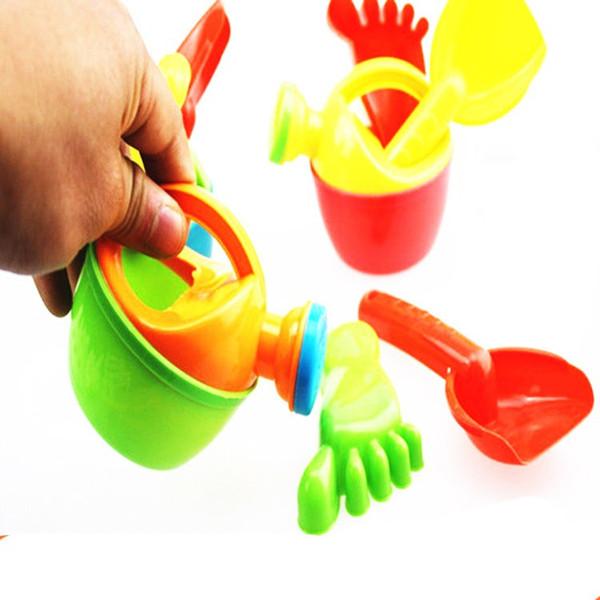 30 sets banho de água do bebê brinquedos crianças mini chaleira de plástico molhando pote de verão brinquedos de praia à beira-mar jogos