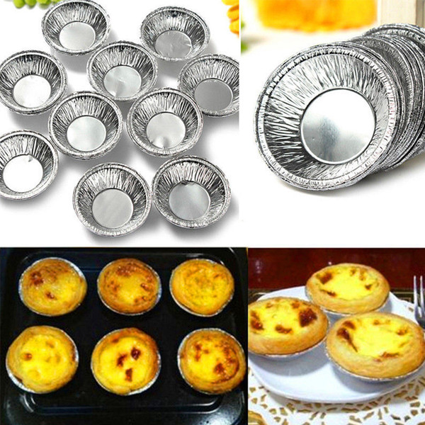 5000pcs/lot New Disposable Aluminum Foil Baking Cookie Muffin Cupcake Egg Tart Round Mold Free Shipping Baking Tools