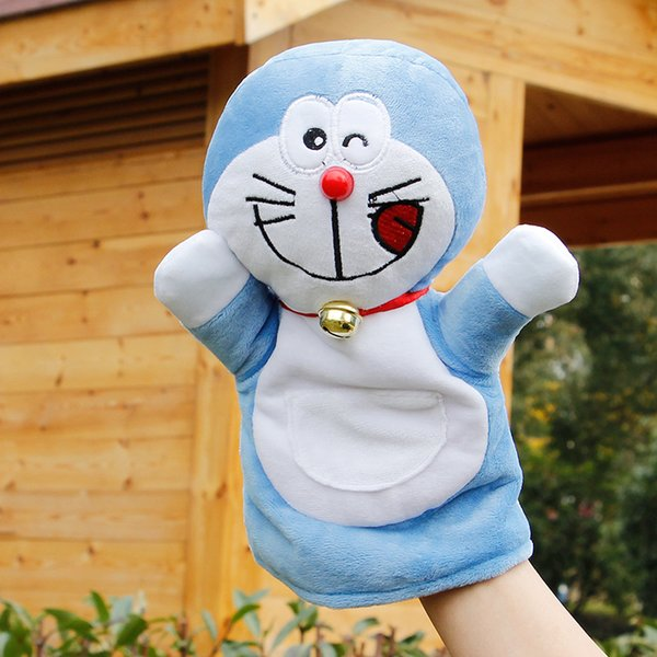 top popular New Arrival Hand Puppets Doraemon Plush Velour Cartoon Hand Puppets for Kid Children Gifts Learning Bedtime Story Telling Toy 2021