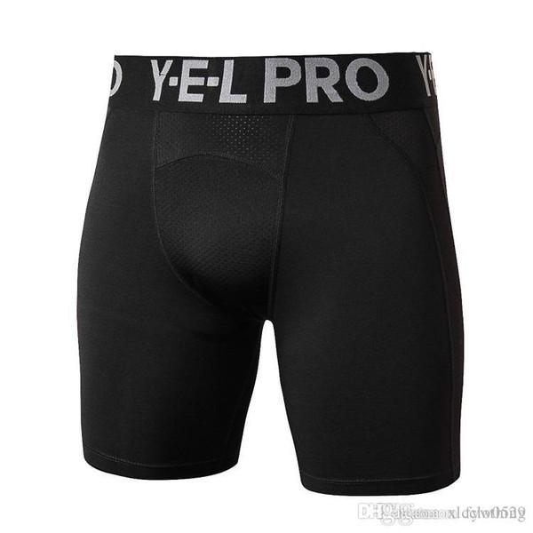 2018 yeni erkek spor salonu pamuk streç şort koşu koşu spor spor fitness pantolon erkek profesyonel spor şort f03
