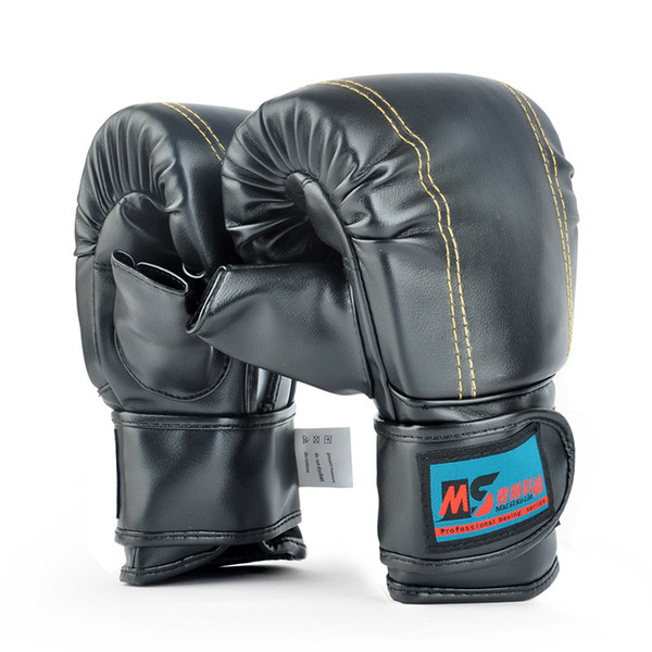Erwachsene Schädel Boxhandschuhe PU Free Combat Fighting Sports Wearable Breathable für Muay Thai Training MMA UFC Karate Taekwondo Rot Schwarz