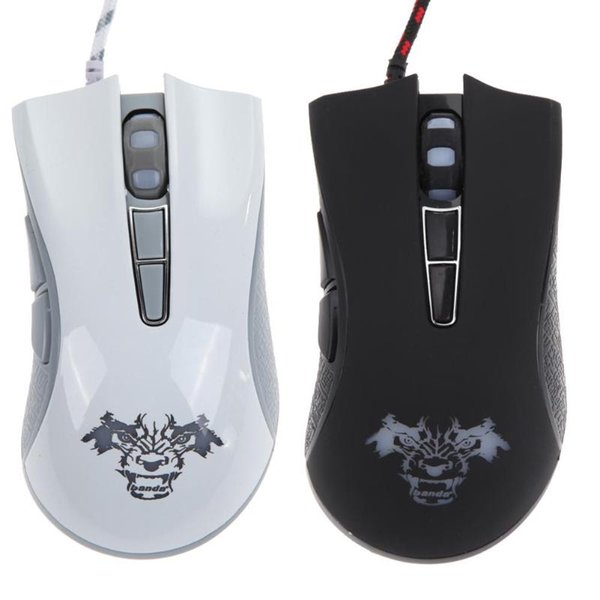 USB Wired Gaming Mouse 4000 DPI 7 Botões LED Gamer Óptico Led Light Mice Jogos para Computador Portátil PC Notebook