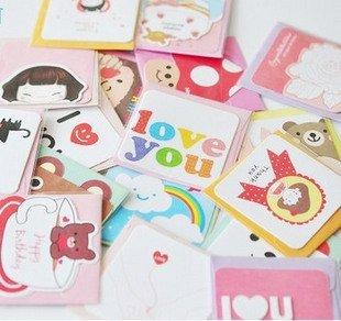 Free ship!80pc!Creative DOA happy life small birthday wish blessing card/ cute min Greeting gift Cards/with paper envelope