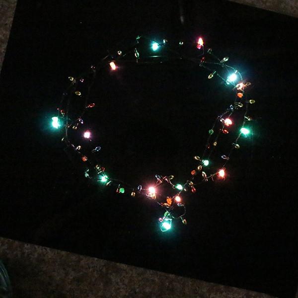 크리스마스 할로윈 파티 장식에 대 한 빛나는 목걸이 LED 점멸하는 목걸이 플라스틱 점멸 된 조명 펜던트 3 8za ff