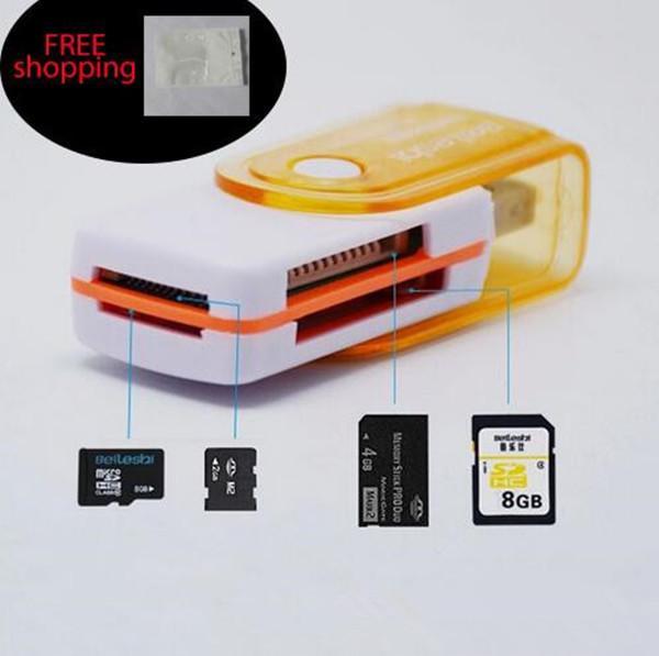 Cartão de preço de fábrica EUB multi em 1 conector adaptador USB 2.0 micro SD TF M2 memory stick MS Duo leitor de memória RS-MMC