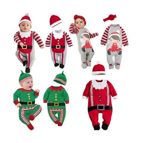 2018 New Autumn and Winter Baby Romper Santa Claus Boy Girls Baby Clothes Rompers Long Sleeves Christmas Infant Jumpsuit Y18102907