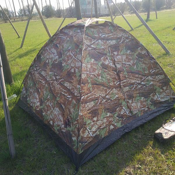 2018 schnelles Gebäude billig Tarnzelt Großer Raum abnehmbarer 4-Mann-Zelt Atmungsaktive Sonnencreme Camping Zelte