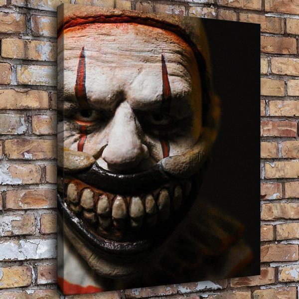 SR104074-Horror Clown,Home Decor HD Printed Modern Art Painting on Canvas (Unframed/Framed)