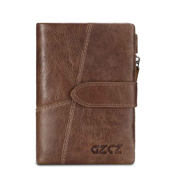 Hengsheng newly vintage men leather wallet with 100% genuine leather vertical men wallet to friend fashion short wallet