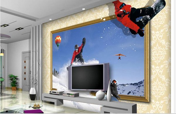 Großhandel 3D Wallpaper Mural Decor Foto Hintergrund HD 3dpsd Geschichteten  TV Hintergrund Wand Herausforderung Kunst Wandbild Für Wohnzimmer Große ...