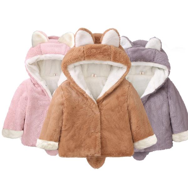 2018 gratuit Enfants garçons et filles d'hiver portent pull en velours de coton veste veste en cachemire rembourré