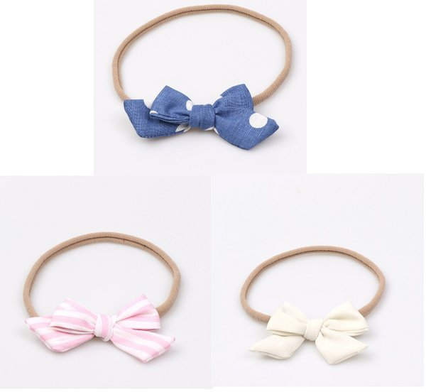 12Pcs Baby Dots Striped Classical Hair Bows Headband Elastic Hair Bands Toddler Newborn Photographed Props Headwear Beautiful HuiLin BH76