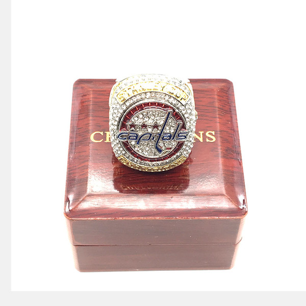 best selling 2018 wholesale High Quality 2018 Washington Capitals Stanley Cup Championship Ring Fan Gift free Shipping(More than 20 DHL free shipping)