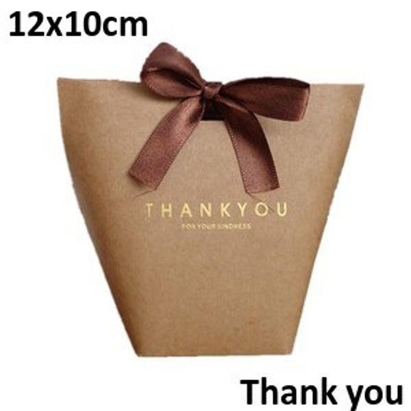 Brown Thank you 12*10cm