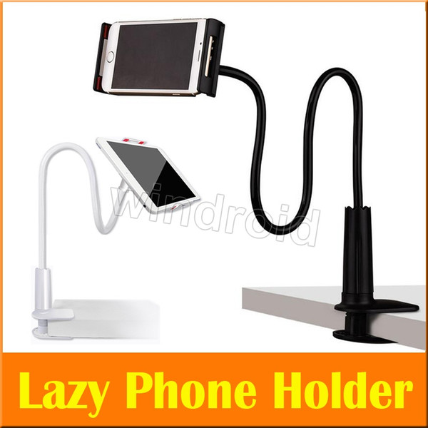 Flexible Desktop Phone Tablet Stand Holder For iPad Mini Air Samsung iphone x 8 For Lazy Bed Tablet PC Stands Mount Big Phone Free DHL 20pcs