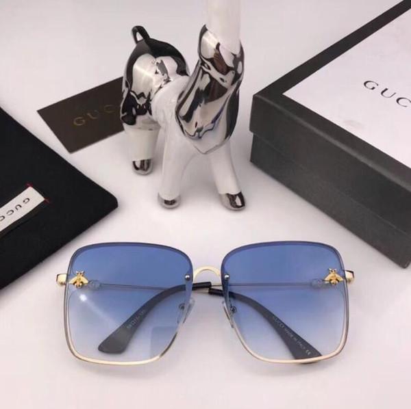 35598a3183 Nuevas gafas de sol de la abeja para las mujeres hombre famosos diseñadores  de la banda