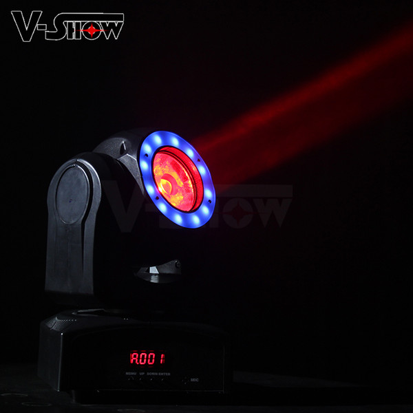 Mini Super Bright 60W Moving Head Light With Halo Effect Beam Stage Light Dmx Control Dj Light For Club Church Wedding Christmas