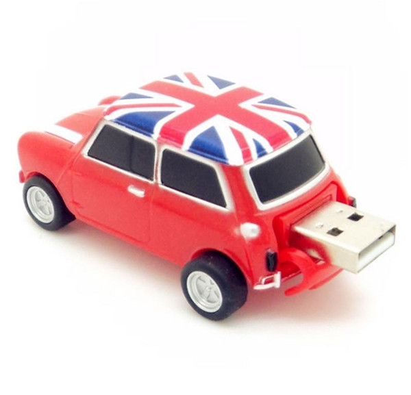 Real 2gb 4gb 8gb 16gb 32gb 64gb mini cooper Car shape USB Flash Drive pen drive memory stick drop free shipping