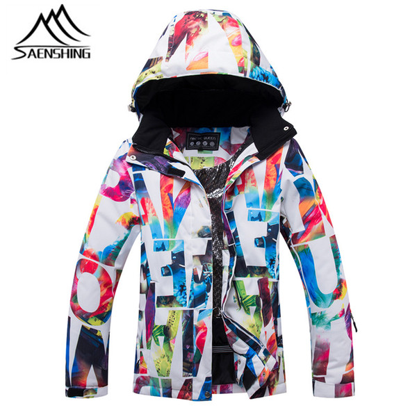 SAENSHING Female Waterproof Ski Jacket Girls Snow Jacket Windproof Breathable High Quality Skiing And Snowboarding Warm