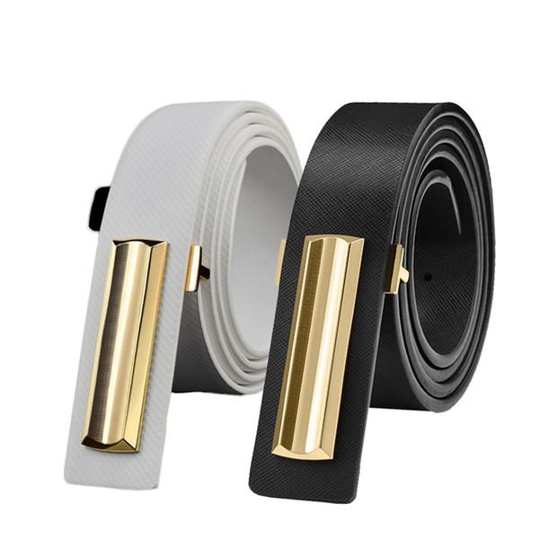 6PCS / LOT SINGYOU Hot Sale Simple Designer Belt for Men Youth Fashion Real Leather Waist Belt Luxury Black White Strap Ceinture