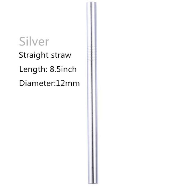 8,5 * 12 milímetros em linha reta (prata)