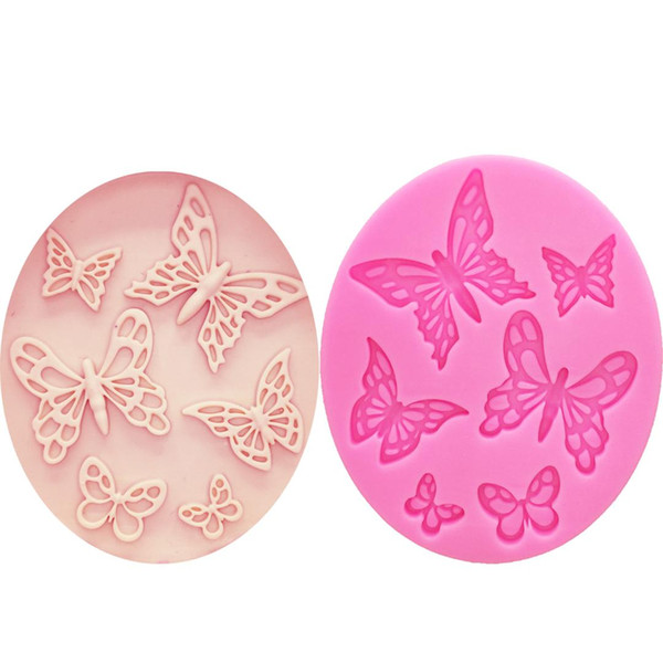 M1073 Butterfly Shaped Fondant Cake Mold Silicone Mold lace pattern Mould Bakeware Baking Cooking Tools Sugar Cookie Decor