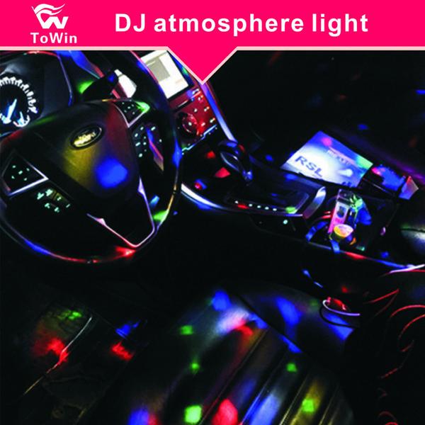 Araba Iç Müzik Eşlik Flaş Işığı Küçük Sahne Etkisi Işık Kapalı Açık Aydınlatma Malzemeleri Dekorasyon Romantik Atmosfer Lamba