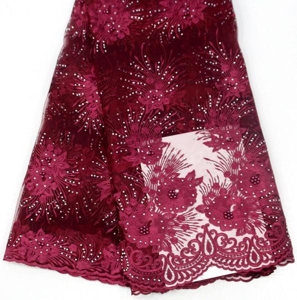 Toptan boncuklu dantel kumaş yüksek kalite çiçek nakış dantel doku konfeksiyon MC için güzel afrika dantel kumaş