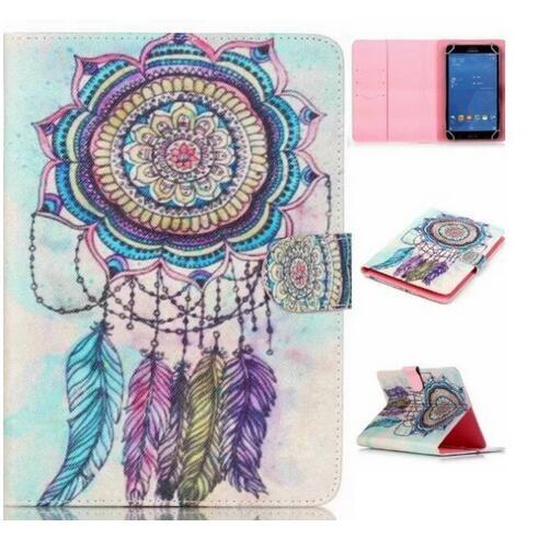 Bear Dreamcatcher Owl Dandelion Universal 7 8inch Tablet Case Wallet Flip Stand Protective Cover for Samsung Apple Asus Lenovo Tablet PC